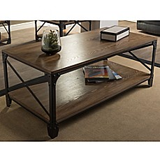 Image Of Baxton Studio Greyson Antique Bronze Coffee Table