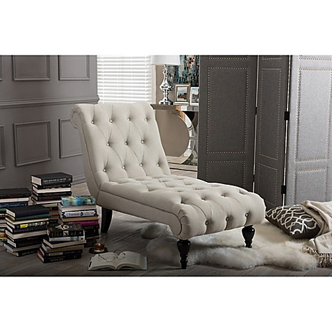 Buy baxton studio layla button tufted chaise lounge in for Button tufted chaise lounge