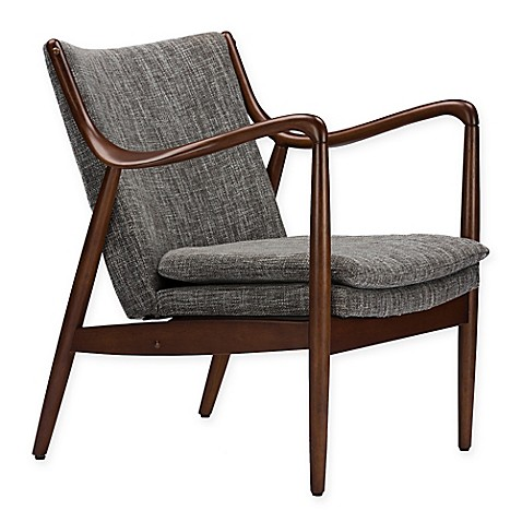 buy baxton studio shakespeare accent chair in grey from
