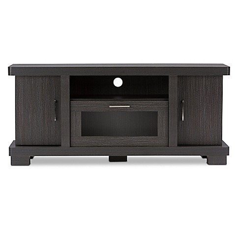 Baxton studio viveka 47 inch tv cabinet in espresso bed for Armoire television salon
