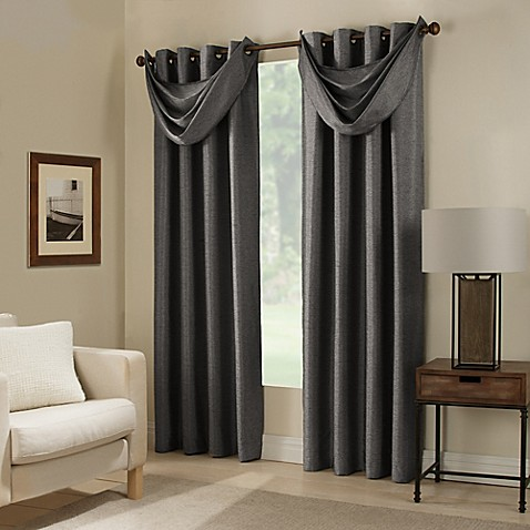image of Paradise Room Darkening Grommet Top Window Curtain Panel and  Valance