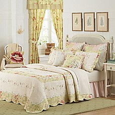 image of Mary Jane's Home Prairie Bloom Bedspread in Yellow