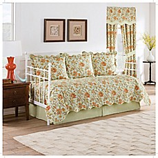 image of Waverly Felicite Reversible Daybed Quilt Set in Persimmon