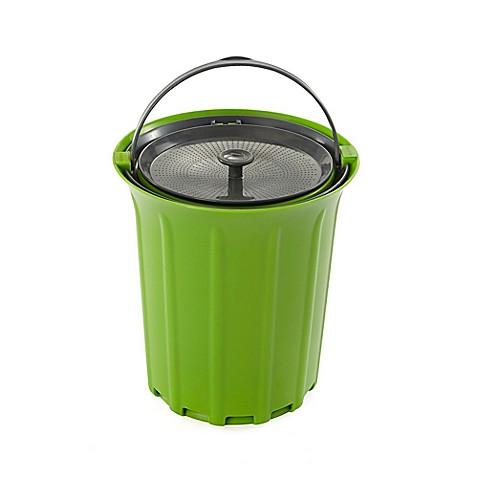 Buy full circle breeze 85 gallon countertop compost bin for Green bathroom bin