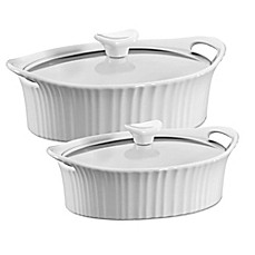 image of CorningWare® French White® Ceramic Oval Casserole