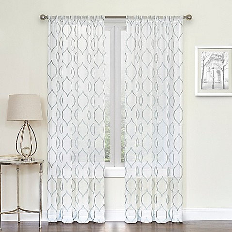 Hourglass Rod Pocket Sheer Window Curtain Panel  sc 1 st  Bed Bath u0026 Beyond & Hourglass Rod Pocket Sheer Window Curtain Panel - Bed Bath u0026 Beyond
