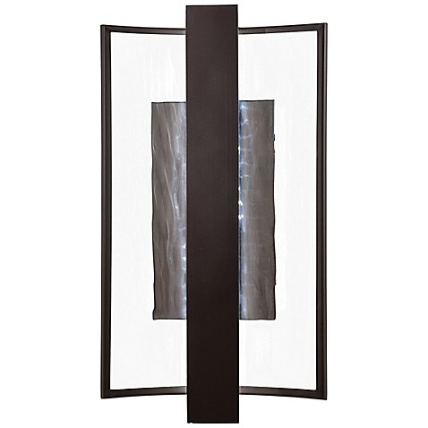 George Kovacsu0026reg; Sidelight 1-Light LED Wall Sconce in Dorian Bronze with Glass Shade  sc 1 st  Bed Bath u0026 Beyond & George Kovacs® Sidelight 1-Light LED Wall Sconce in Dorian Bronze ...