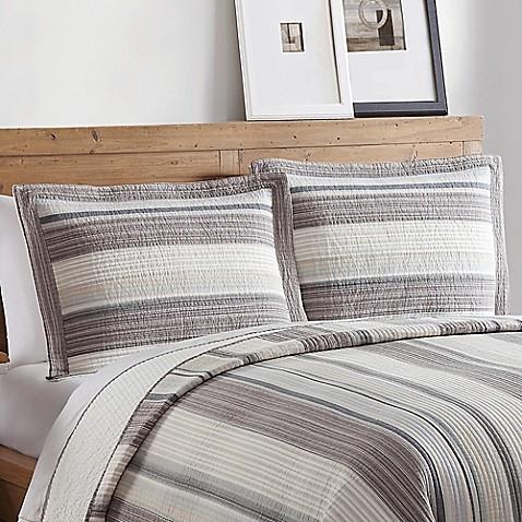 Brooklyn loom fulton yarn dyed standard sham bed bath for Brooklyn loom bedding