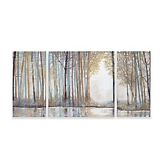 image of Madison Park Forest Reflections Gel Coated Canvas Wall Art (Set of 3)