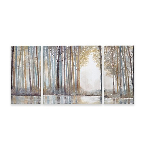 Madison Park Forest Reflections Gel Coated Canvas Wall Art Set Of 3