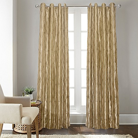 Buy Fresno 108 Inch Grommet Top Window Curtain Panel In Gold From Bed Bath Beyond