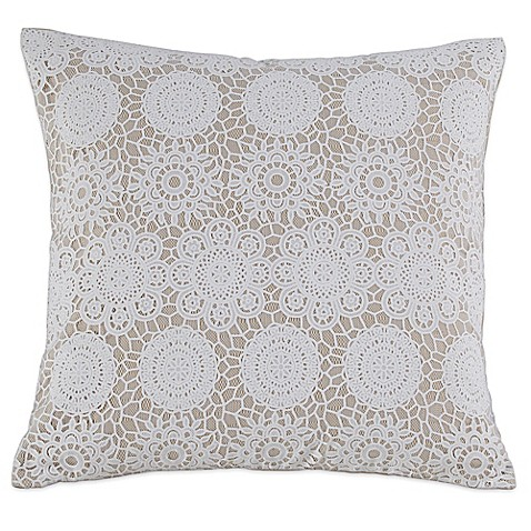 Kensie Laramie 20 Inch Square Throw Pillow In Taupe Bed