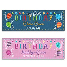 image of First Birthday Personalized Banner
