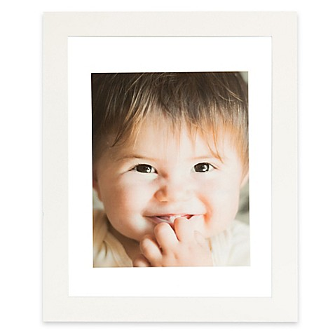 Real Simple® 13-Inch x 16-Inch Wood Portrait Float Frame in White ...