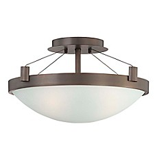 image of George Kovacs® Suspended 3-Light Semi-Flush Mount Ceiling Fixture