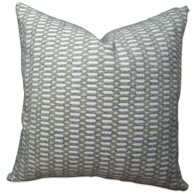 Buy Plutus Circle Joiners Handmade 24-Inch Square Throw Pillow in Grey from Bed Bath & Beyond