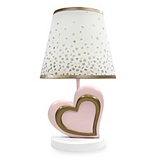 image of Lambs & Ivy® Metallic Lamp and Shade in Pink/Gold