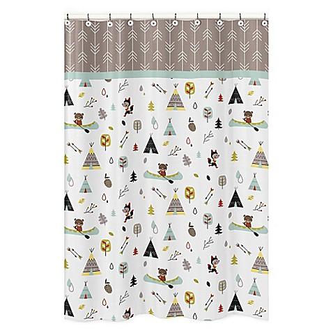 Image Of Sweet Jojo Outdoor Adventure Shower Curtain