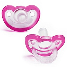 image of Razbaby® JollyPop® 3M+ 2-Pack Silicone Pacifiers in Pink