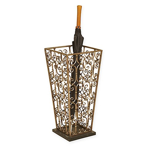 Buy Scrollwork Umbrella Stand In Copper From Bed Bath Amp Beyond