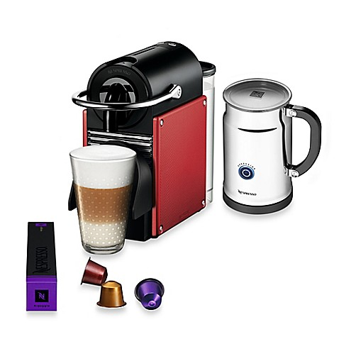 nespresso pixie espresso machine and aeroccino plus. Black Bedroom Furniture Sets. Home Design Ideas
