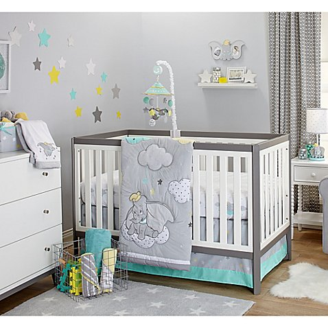 Disney 174 Baby Dumbo Dream Big Crib Bedding Collection
