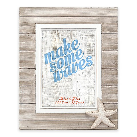 Malden® Rustic Starfish 5-Inch x 7-Inch Wooden Picture Frame - Bed ...
