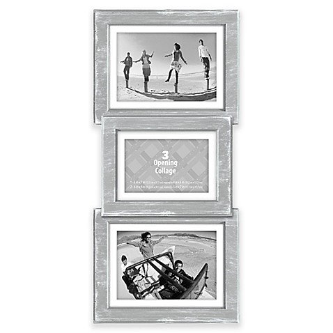 Malden® 3-Opening Collage Picture Frame in Grey - Bed Bath & Beyond
