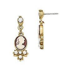image of Downton Abbey® Cameo Dangle Earrings