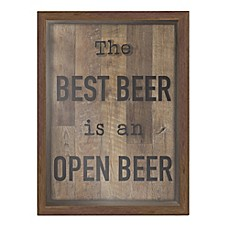 Best Beer Shadow Box Wall Art In Brown