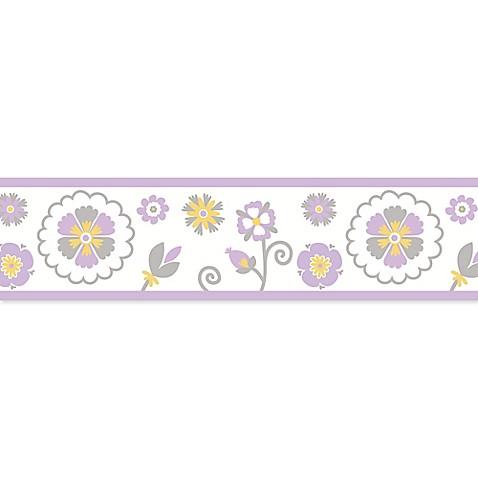 Sweet Jojo Designs Suzanna Wallpaper Border In Lavender