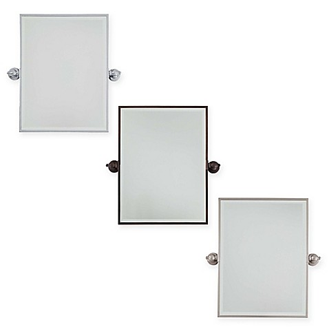 Minka lavery 18 inch x 24 inch rectangle pivoting mirror for Mirror 18 x 24