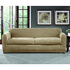 Image Of Sure Fit® Ultimate Stretch Chenille Sofa Slipcover