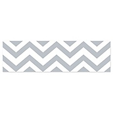 image of Sweet JoJo Designs Chevron Wallpaper Border in Grey/White