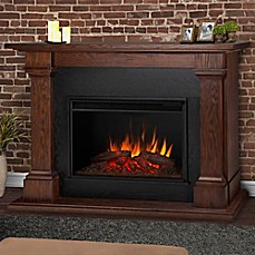 image of Real Flame® Callaway Grand Electric Fireplace in Chestnut
