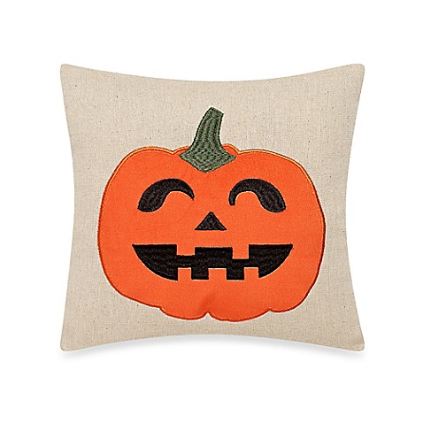 Bed Bath And Beyond Orange Throw Pillows : Buy Jack O Lantern Throw Pillow in Orange from Bed Bath & Beyond