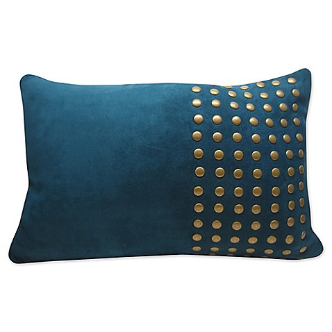 Gold Stud Oblong Throw Pillow in Teal - Bed Bath & Beyond