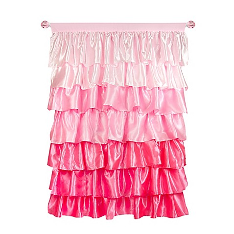 silk sheets bed bath beyond bestsciaticatreatments buy tadpoles 63 inch ruffled satin curtain panel in pink 249