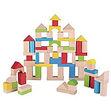 image of Maxim® Pre-School 75-Piece Wooden Bucket Blocks