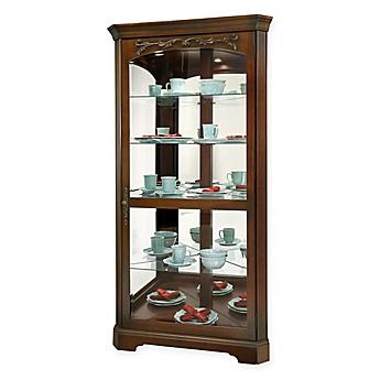 Image Of Howard Miller Tessa Curio Cabinet In Hampton Cherry
