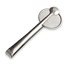 image of Genietti Stainless Steel 2-in-1 Strainer Tongs
