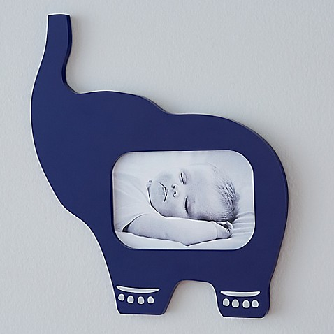 happy chic baby by jonathan adler taylor elephant picture frame buybuy baby. Black Bedroom Furniture Sets. Home Design Ideas