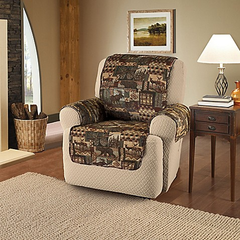 Lodge Recliner And Wing Chair Cover In Brown Bed Bath