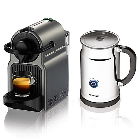 buy nespresso inissia bundle espresso machine in titanium from bed bath beyond. Black Bedroom Furniture Sets. Home Design Ideas