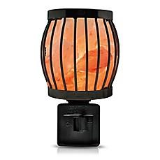 Himalayan Glow Salt Crystal Lantern Nightlight In Black Natural