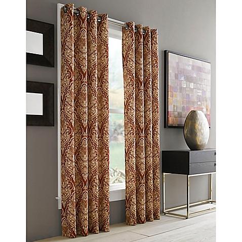 Buy J Queen New York Roosevelt 84 Inch Grommet Top Window Curtain Panel In Brick From Bed Bath
