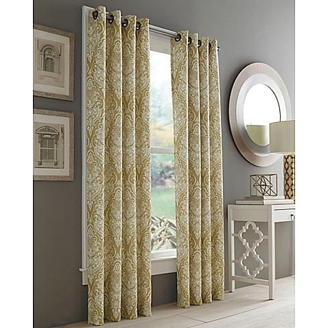 Buy J Queen New York Roosevelt 108 Inch Grommet Top Window Curtain Panel In Gold From Bed Bath