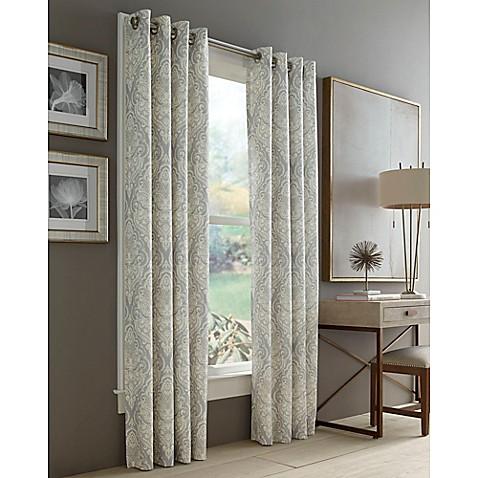 Buy J Queen New York Roosevelt 63 Inch Grommet Top Window Curtain Panel In Grey From Bed Bath