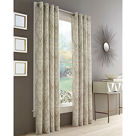 Buy J Queen New York Roosevelt 108 Inch Grommet Top Window Curtain Panel In Natural From Bed