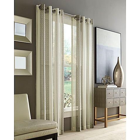 J Queen New York Roosevelt Sheer Grommet Window Curtain Panel Bed Bath Beyond